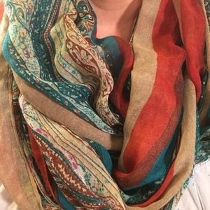 Multi Colored Woven Infinity Scarf